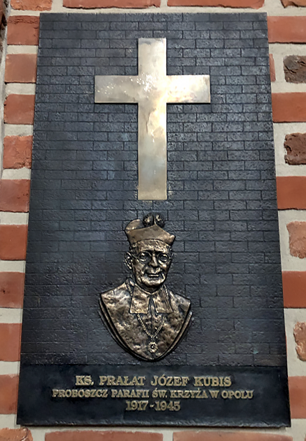 Plaque commemorating Fr. Józef Kubis